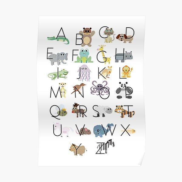 Animal ABC Poster