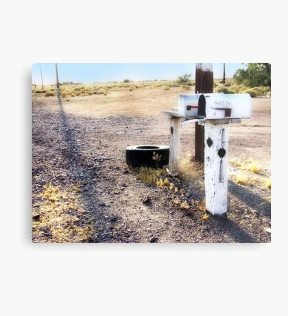 mailboxes, route 66, amboy, california Metal Print