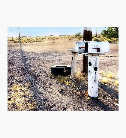 mailboxes, route 66, amboy, california Photographic Print
