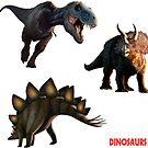 Dinosaurs - Set 1 by Mark A. Garlick