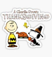 Charlie Brown (Peanuts) Thanksgiving  Sticker