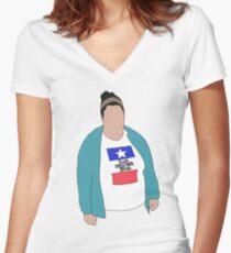 Christine! Women's Fitted V-Neck T-Shirt