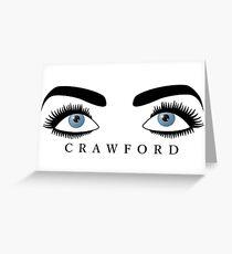 Joan Crawford's Eyes Greeting Card
