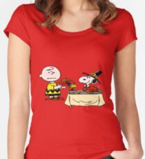 Charlie Brown (Peanuts) Thanksgiving  Women's Fitted Scoop T-Shirt