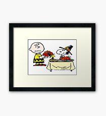 Charlie Brown (Peanuts) Thanksgiving  Framed Print