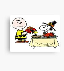 Charlie Brown (Peanuts) Thanksgiving  Canvas Print
