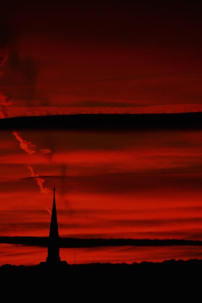 Moody Geneva Sunset  by Kiwikiwi