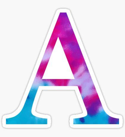 tie dye - alpha Pegatina