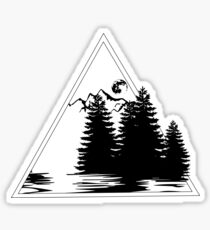 Live by the Mountains, Trees and Sea Sticker
