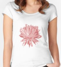Electric Red Dandelion Women's Fitted Scoop T-Shirt