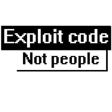 exploit code, not people by xd4rker