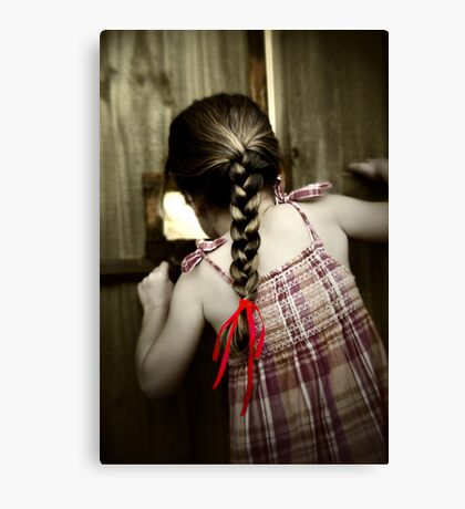 Red Ribbon... Canvas Print