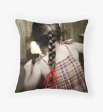 Red Ribbon... Throw Pillow