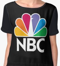 NBC Logo - White Women's Chiffon Top