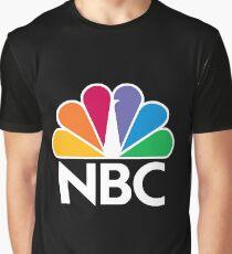 NBC Logo - White Graphic T-Shirt