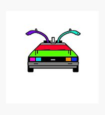 Back To The Future - Delorean Time Machine Photographic Print