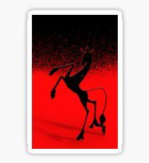 Einhorn schwarz rot Sticker