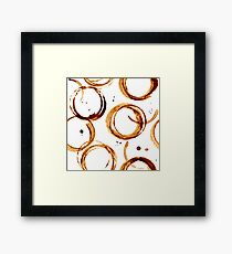 Coffee cup stains Framed Print