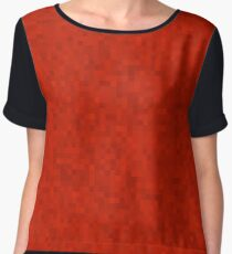 Red Women's Chiffon Top