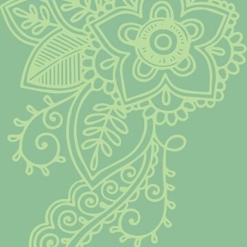 Henna Flower - Spring Green by geekerymade