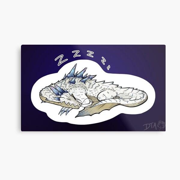 Monster Hunter - Ivory Lagiacrus Metal Print