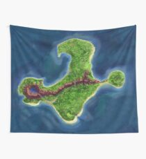 Monkey Island map Wall Tapestry