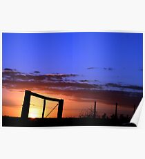 Caged Sunset Poster