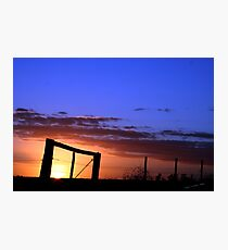 Caged Sunset Photographic Print