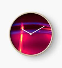 Neon Red Blue Yellow Clock