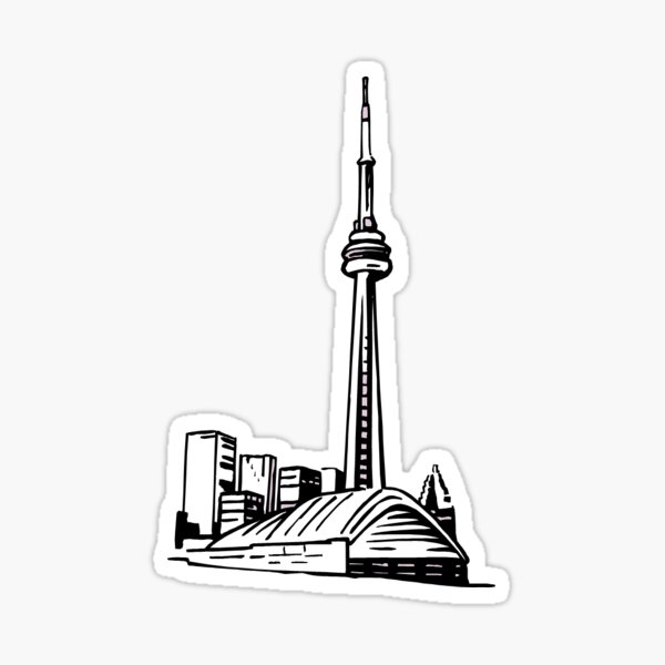 Toronto Skyline Sketch Sticker