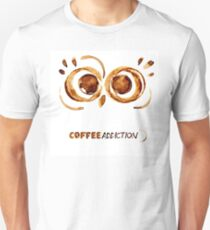 Coffee addiction - Owl's eyes T-Shirt