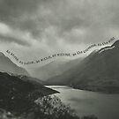 Black White Grey Llyn Peris Snowdonia Mountain Quotes by Yvie Johnson