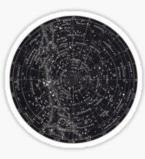 Star Constellation Map Sticker