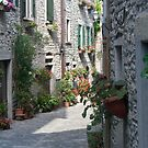 italian medieval alley by bruno benedetti