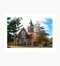 Scots Church, St Arnaud, Victoria Art Print