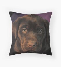 PawPals Plush Throw Pillow - Beautiful Chocolate Labrador Throw Pillow