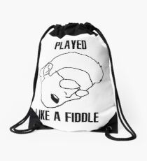 Played Like a Fiddle Drawstring Bag