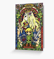 Tarjeta de felicitación Zelda y enlace