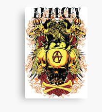 Anarchy Skull Eagle Tattoo Crown Canvas Print