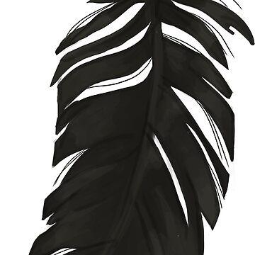 Plumas negro de kopfabhase
