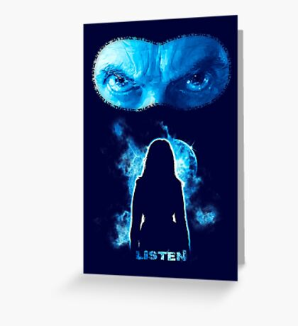 LISTEN Twelfth Doctor - Blue Greeting Card