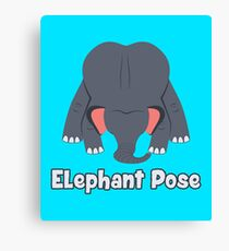 Animal Yoga Elephant Pose Canvas Print