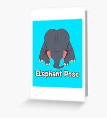 Animal Yoga Elephant Pose Greeting Card