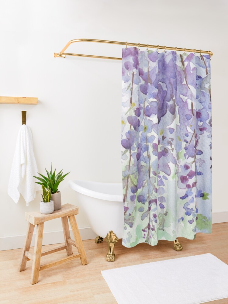 Alternate view of The Wisteria's scent Shower Curtain