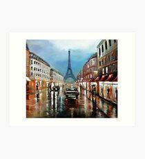Rainy Paris 2 Art Print