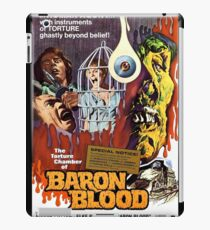 Baron Blood - vintage horror movie poster iPad Case/Skin