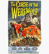 The Curse of the Werewolf - vintage horror movie poster Poster