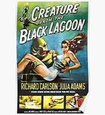 Creature from the Black Lagoon - vintage horror movie poster Poster