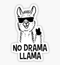 No Drama Llama Sticker