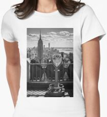 Empire State Building from Rockefeller Center Womens Fitted T-Shirt